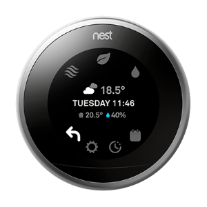 Nest thermostat quickview settings menu