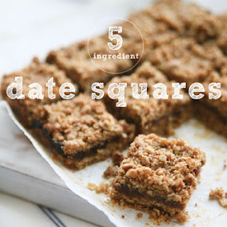 5 Ingredient Gluten-Free Healthy Date Squares Recipe