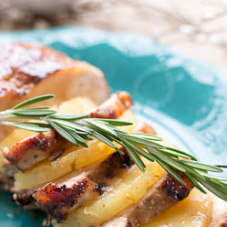 Pineapple and Brown Sugar Glazed Pork Tenderloin