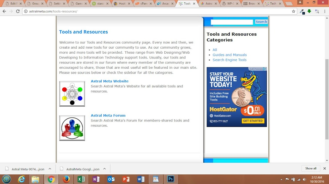 Tools and Resources Page Completed thumbnail
