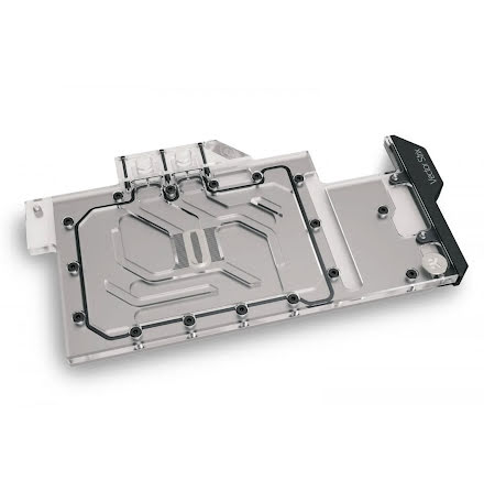 EK vannblokk for skjermkort, EK-Quantum Vector Strix RTX 3080/3090 D-RGB - Nickel + Plexi