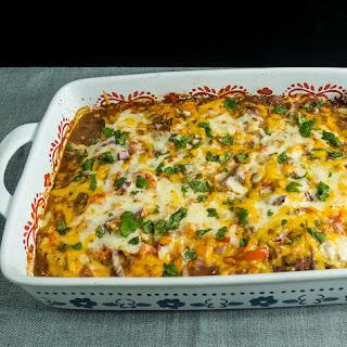 Mexican Vegetarian Zucchini Lasagna.