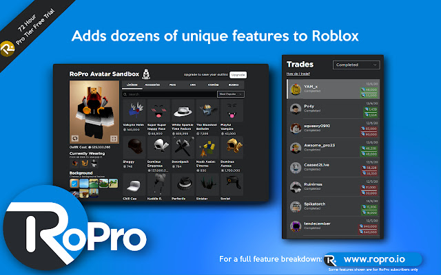 RoPro - Enhance Your Roblox Experience