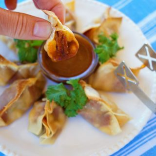 Tex Mex Cream Cheese Wontons with Bacon