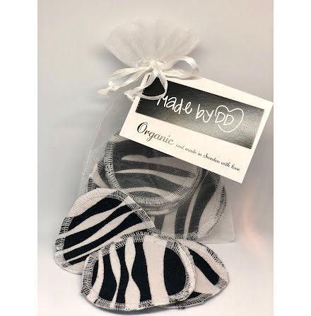 Rengöringspads Zebra i ekologisk GOTS-certifierad trikå