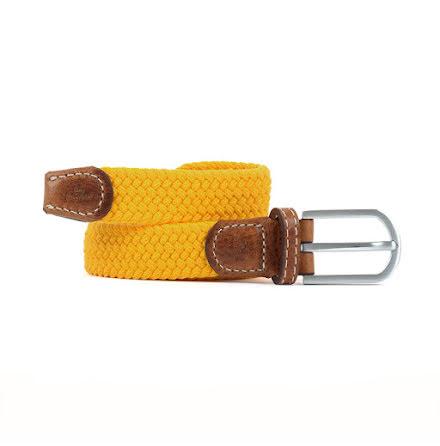 BillyBelt Braid belt saffron yellow thin