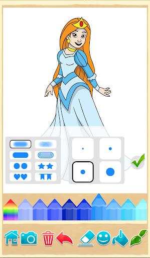公主着色游戏
