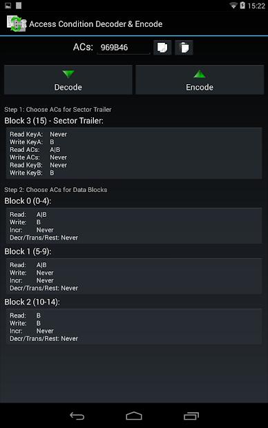 MIFARE Classic Tool - MCT