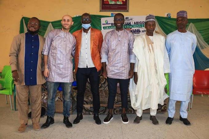 Olorunleke Charges Nigerian Coaches On Creativity as Berackiah/Abigol Football Coaching Clinic Ends in Kano