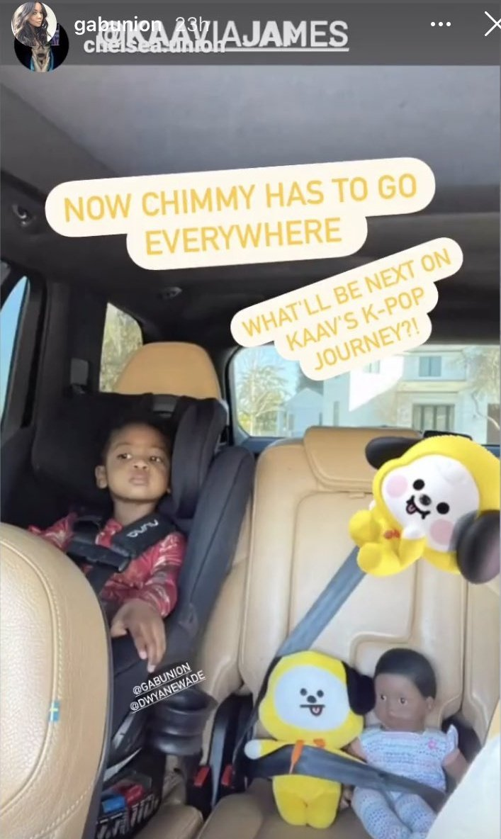 gabunion ig kaavia james union wade bt21 chimmy car