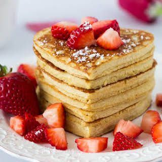 High Protein Oatmeal Pancakes {Heart Shaped}.