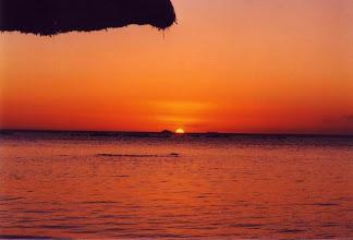 Photo: Coucher de soleil sur l'île Maurice au Club Med de La Pointe aux Canonniers