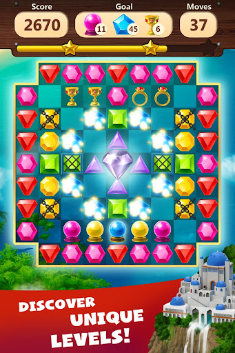 Jewels Planet - Free Match 3 & Puzzle Game screenshots 3