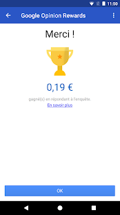 Google Opinion Rewards – Vignette de la capture d'écran