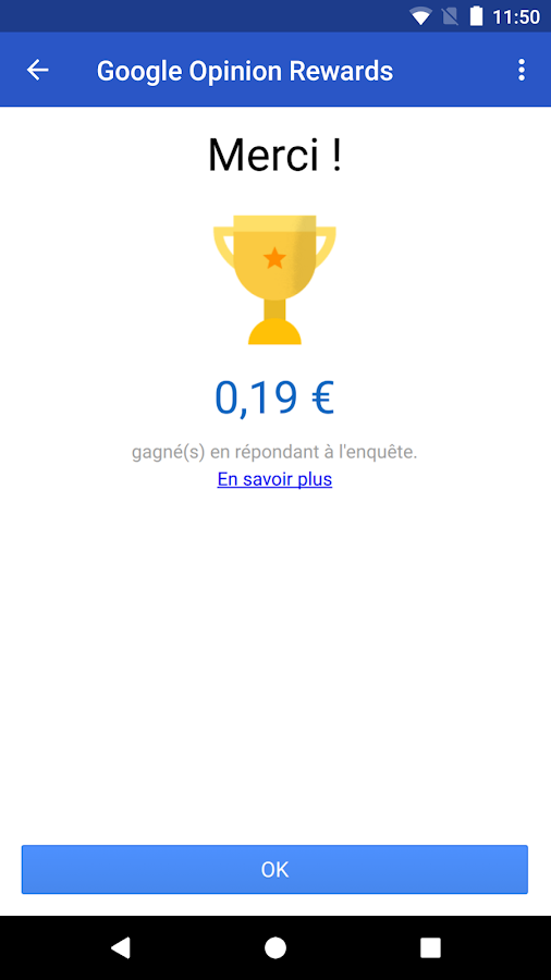 Google Opinion Rewards – Capture d'écran