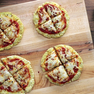 Dairy-Free Cauliflower Pizzas.