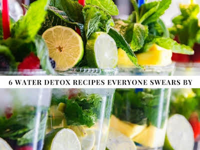 6 Water Detox Recipes Everyone Swears By