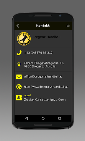 android Bregenz Handball Screenshot 4