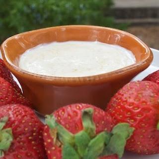 Greek Yogurt & Coconut Sugar Fruit Dip.