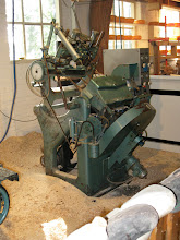 Photo: Machine that carves the interior of the shoes.