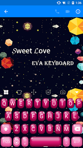 Lovely Bubble Love Keyboard