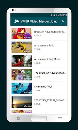 VMER Video Merger Joiner Free 3.3 screenshots 1