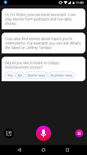 Robin - AI Voice Assistant Screenshot