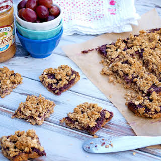 Peanut Butter and Jelly Oatmeal Breakfast Bars.