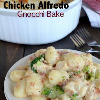 Loaded Chicken Alfredo Gnocchi Bake