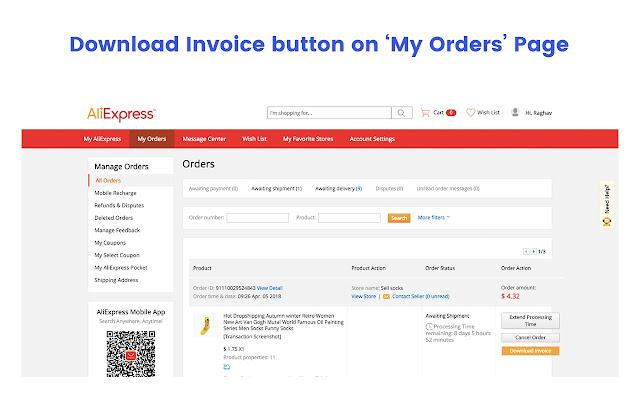 alibilling aliexpress invoice generator chrome web store