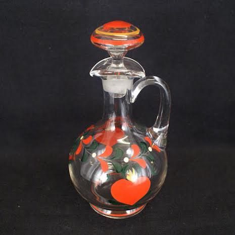 målade glas Karaff med propp