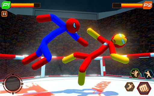 Stickman Wrestling: Stickman Fighting Game android2mod screenshots 8