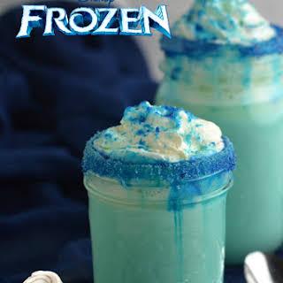 Frozen Movie Themed White Hot Chocolate.
