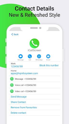 iCallScreen - OS14 Phone X Dialer Call Screen 1.3.7 screenshots 14