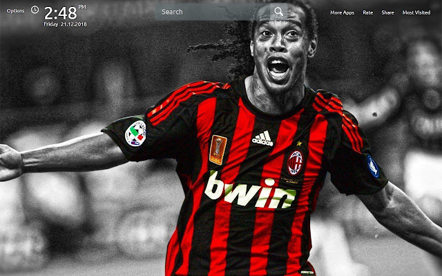 Ronaldinho Wallpapers Theme New Tab