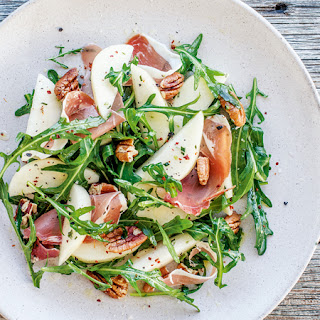 Pear, Ham + Rosemary Salad with Pecans.