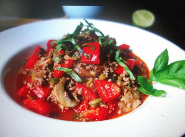 Eddie's Cubed  Pepper Steak With Mushrooms Recipe