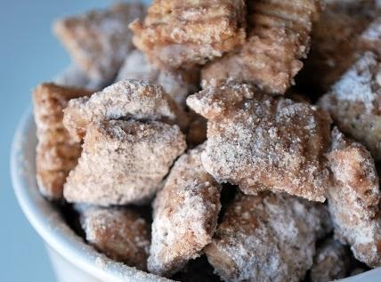 Cinnamon Churro Chex Mix Puppy Chow Recipe