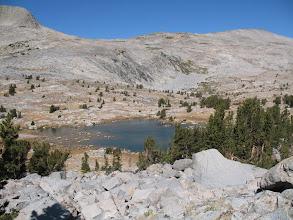 Photo: climbing above the lake