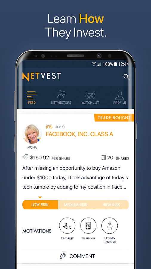 Netvest - Top Investors- screenshot