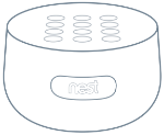 Nest secure guard front top angle image.