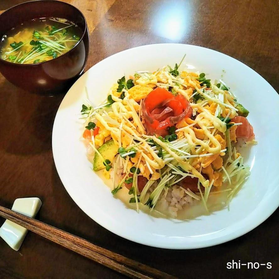 簡単ちらし寿司とお澄まし