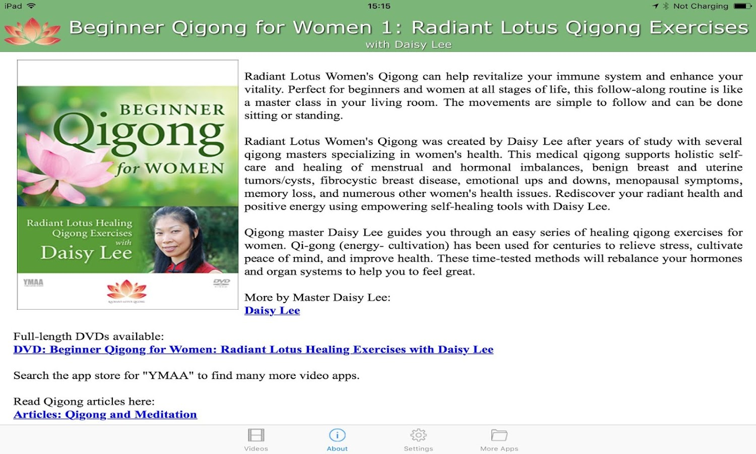 Beginner Qigong for Women 1 (YMAA)- screenshot