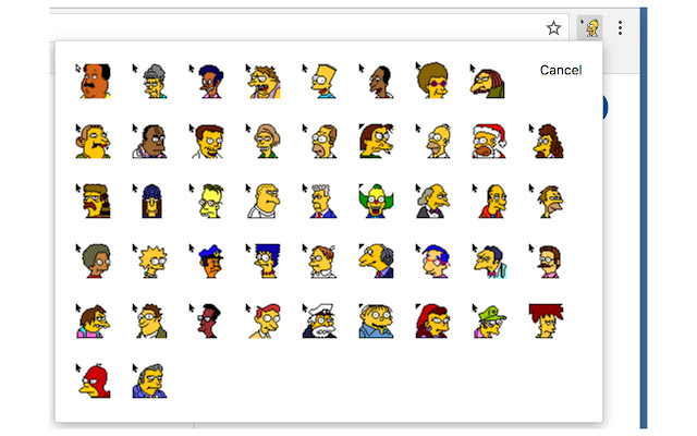 Simpsons cursors