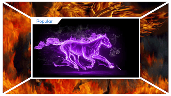 Fiery Horse Wallpaper - náhled