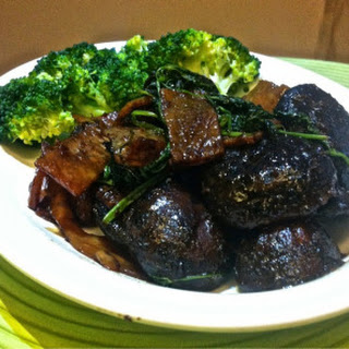 Stir-fried Mushrooms With Taucho and Sweet Dried Beancurd