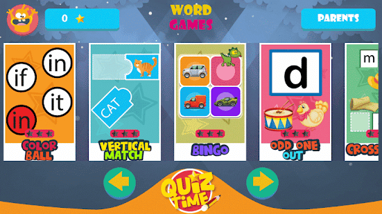 Kindergarten kids Learning English Rhyming Words- screenshot thumbnail