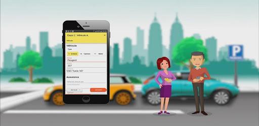 Digital declaration of the automobile accident report
