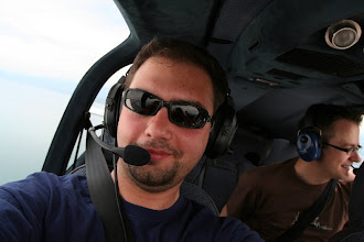 Photo: Some Googlers (Vesko and Matthias) joined me for a sightseeing flight over Switzerland http://www.swiss-flight.net