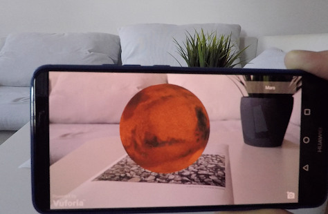 Planets 3D Augmented Reality Screenshot